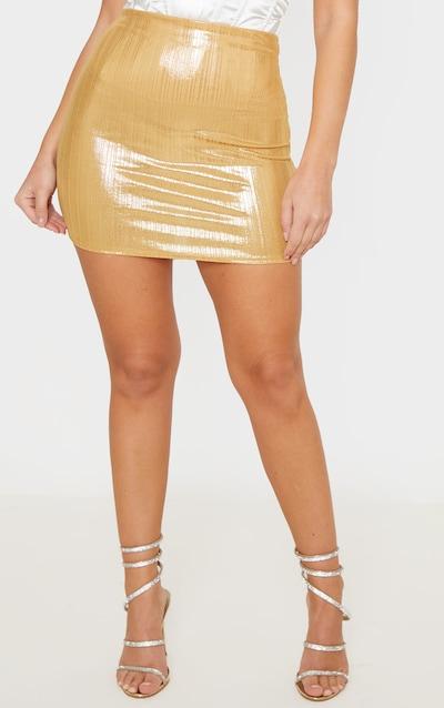 Gold Metallic Mini Skirt