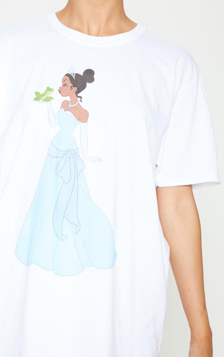 White Disney Princess & The Frog Oversized T Shirt 5