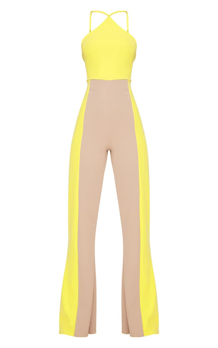 Yellow Colour Block Jumpsuit 3