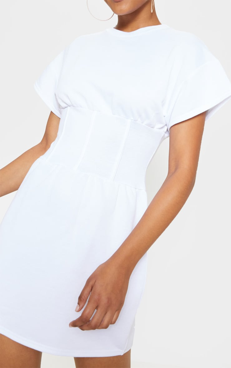 White Corset Sweater Dress 5