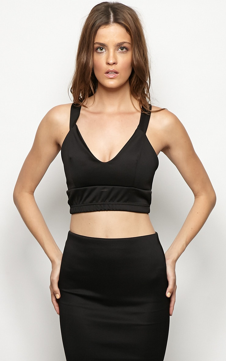Esme Black Bralet Crop Top 3