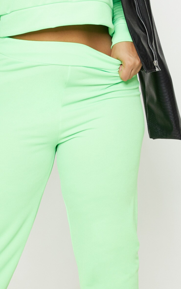 Plus Neon Green Cuff Detail Jogger 5