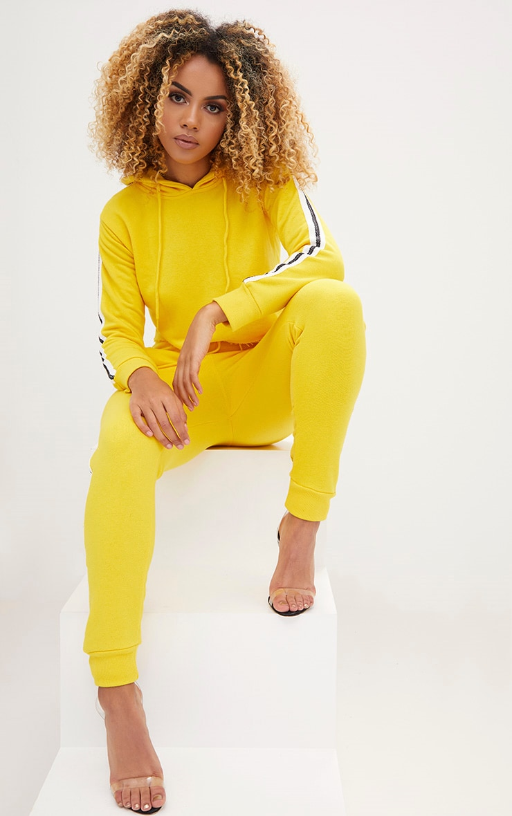 Yellow Side Stripe Hoodie 4