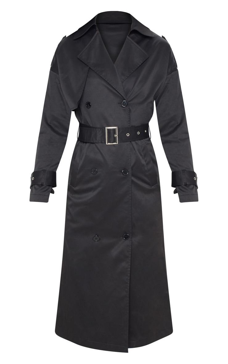 Petite Black Trench Coat 3