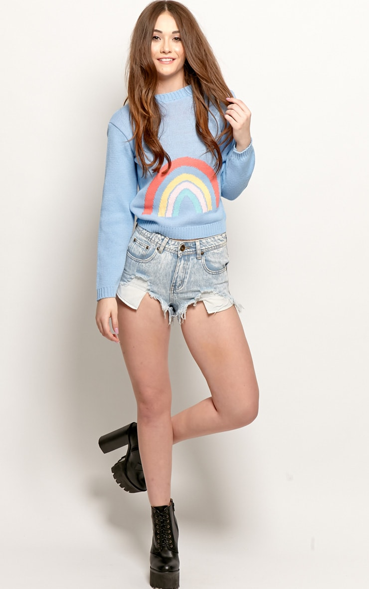 Melanie Blue Rainbow Sweater  3