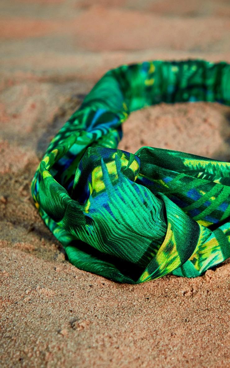 Palm Print Chiffon Headband 3