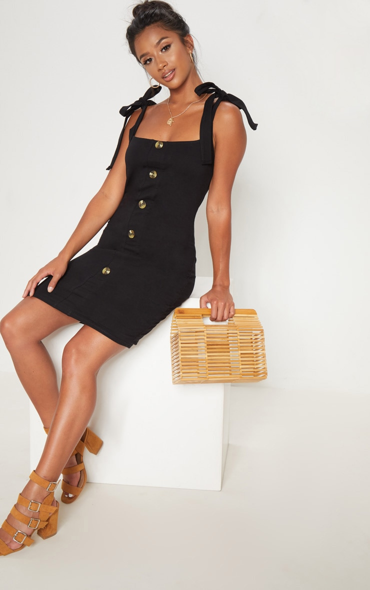Petite Button Front Bodycon Dress 1