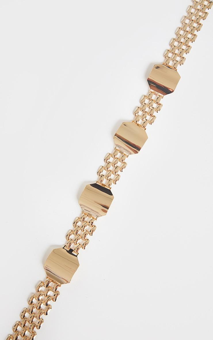 Gold Link Hexagon Chain Belt 3
