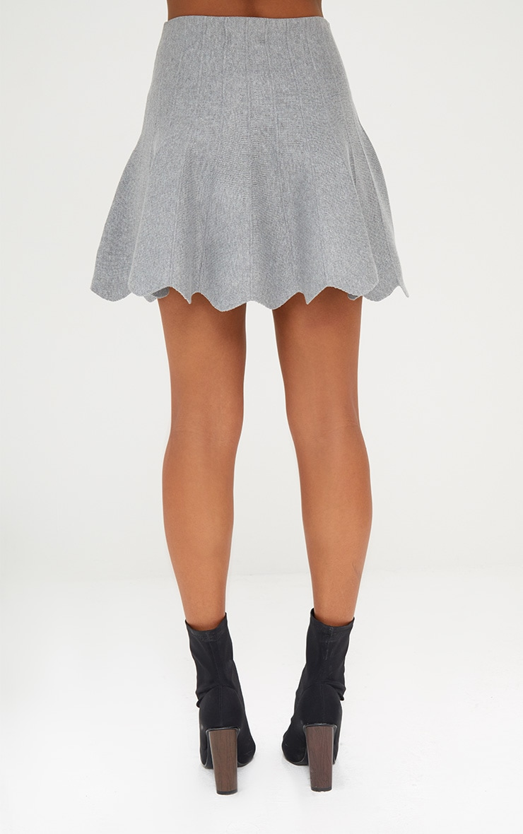 Grey Knitted A line Skirt 3