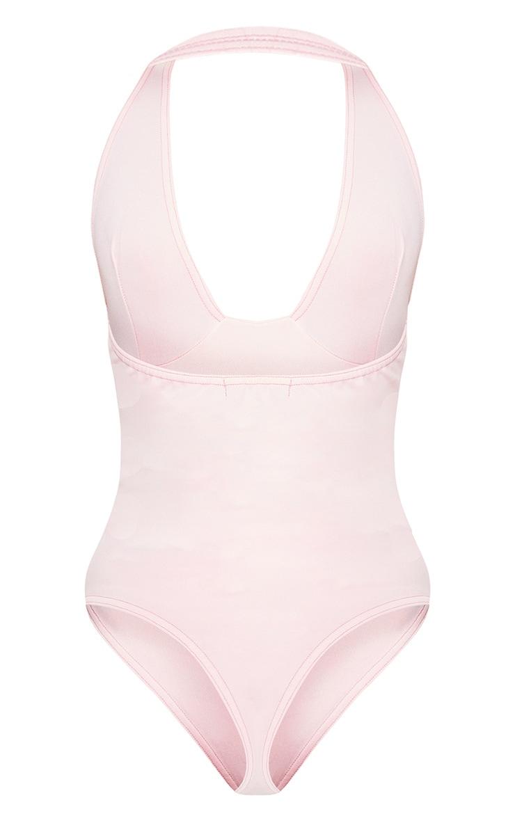 Baby Pink Plunge Sleeveless Bodysuit 4