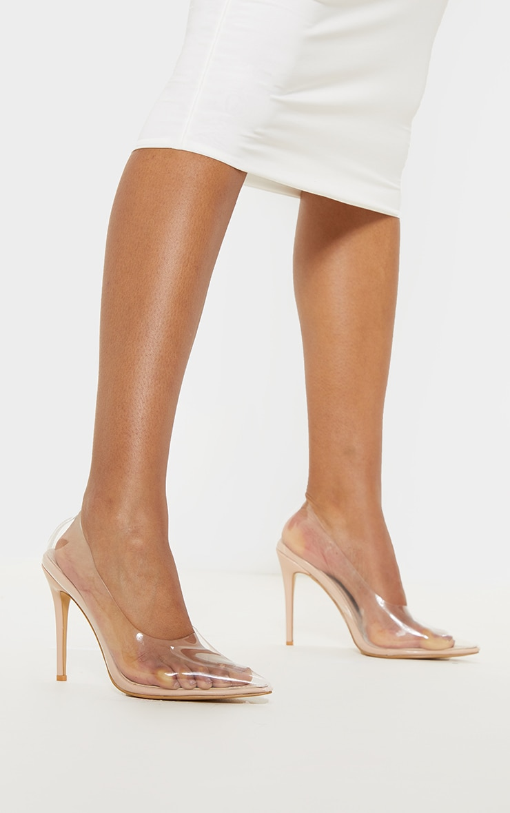Clear High Vamp Court Shoe 2
