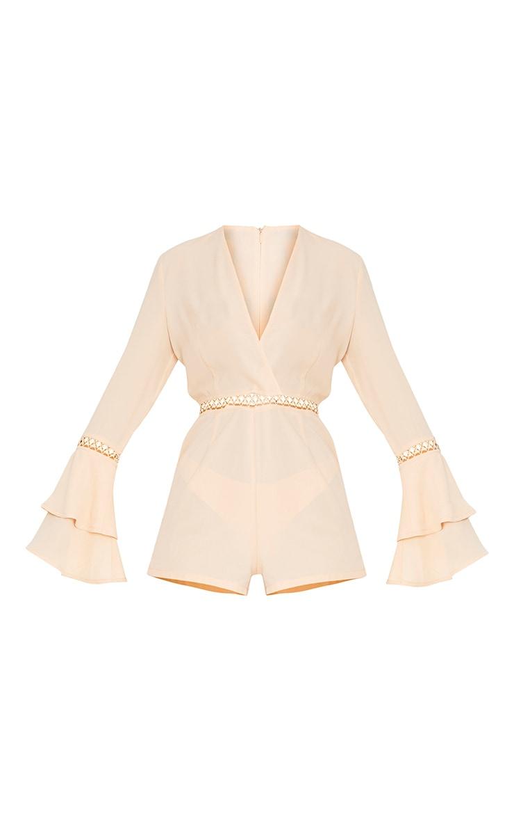 Marnie Cream Frill Sleeve Playsuit 3