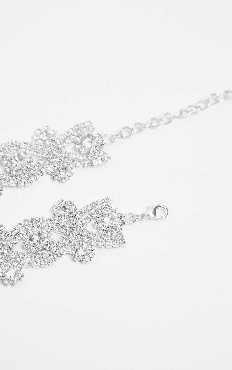Jena Silver Diamante Choker 3