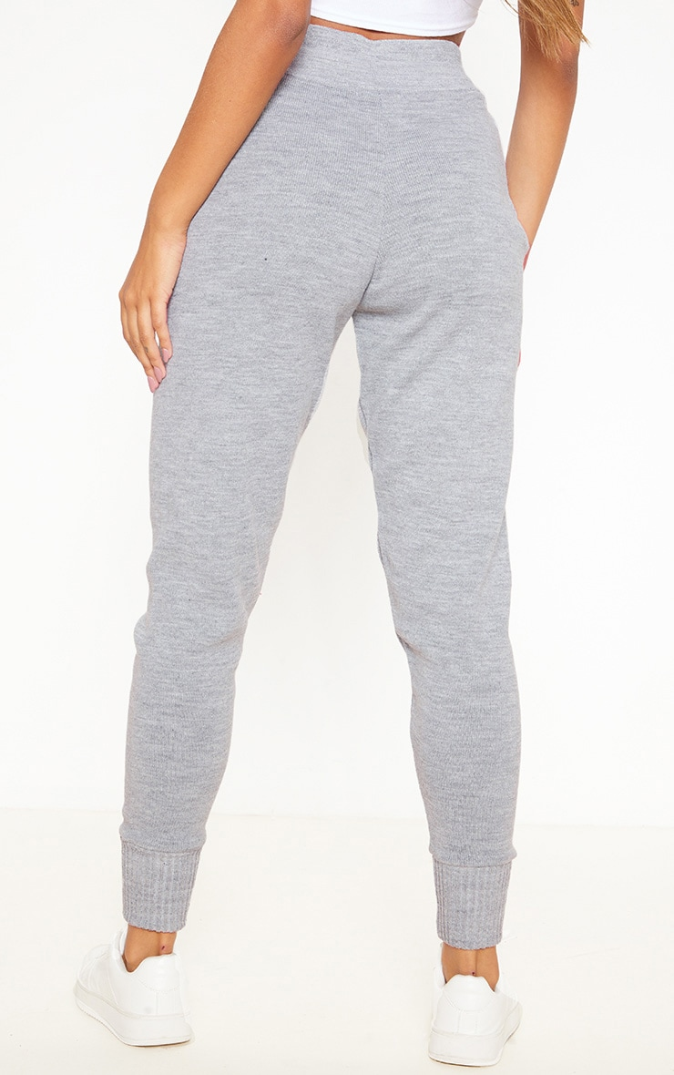 Grey Knitted Jogger 4