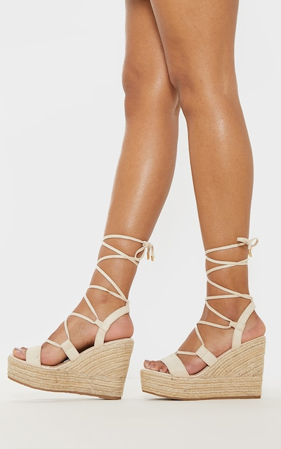 c315c85a5234 Nude Ghillie Espadrille Wedge