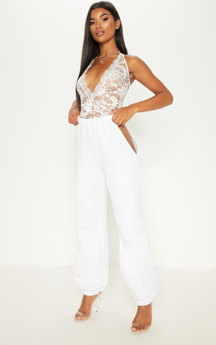 PRETTYLITTLETHING White Lace Bodysuit 5