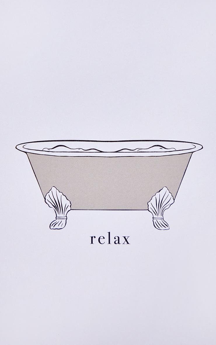 Imprimé baignoire & Relax A4 4