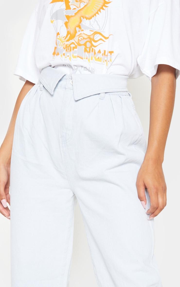 Bleach Wash Envelope Paperbag Baggy Jeans 5