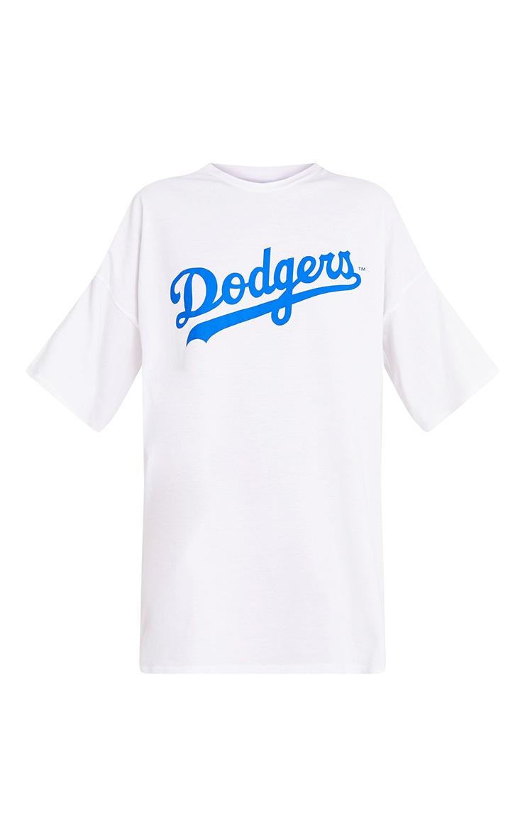 Robe t-shirt blanche à slogan LA Dodgers 3