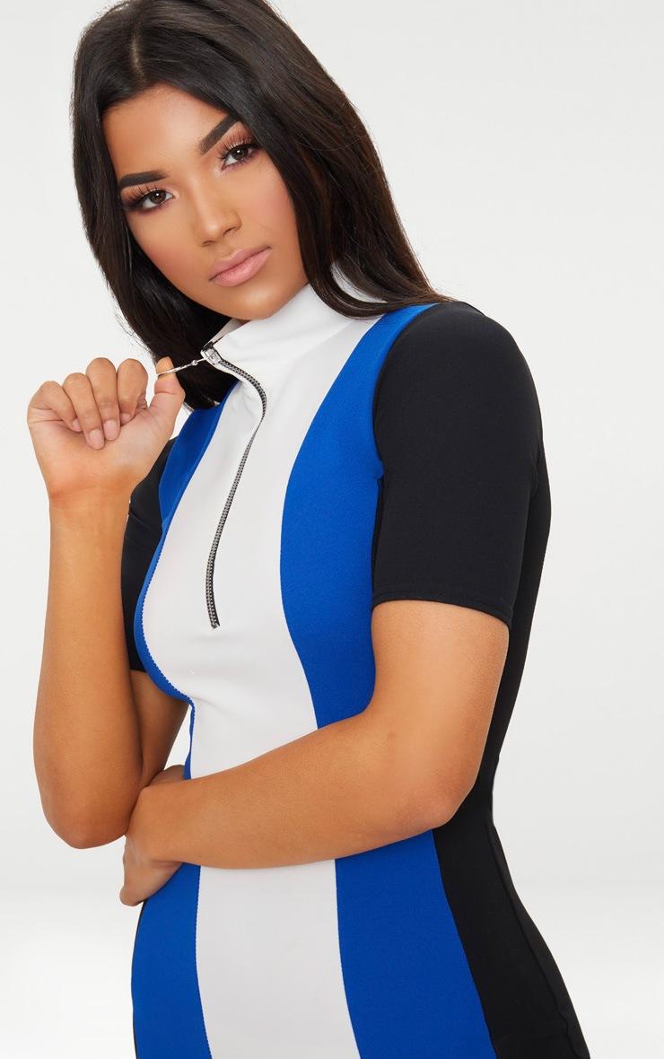 Cobalt Motocross Ring Pull Dress 5