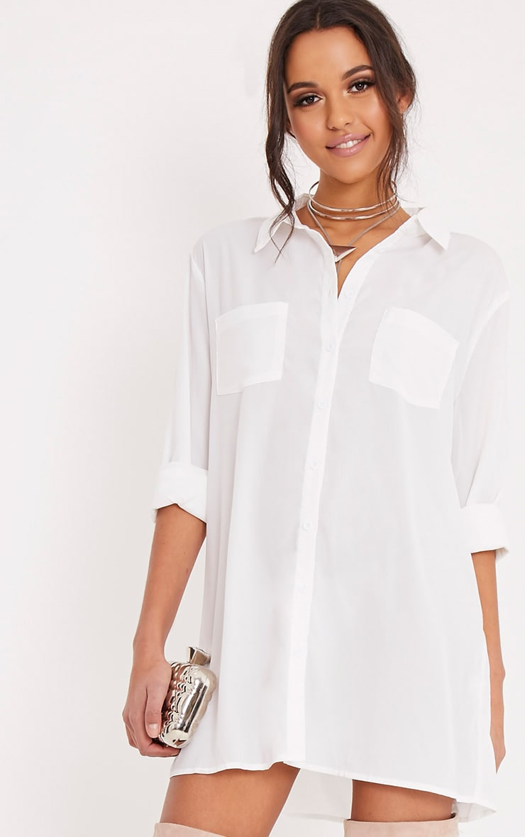 Effy White Shirt Dress