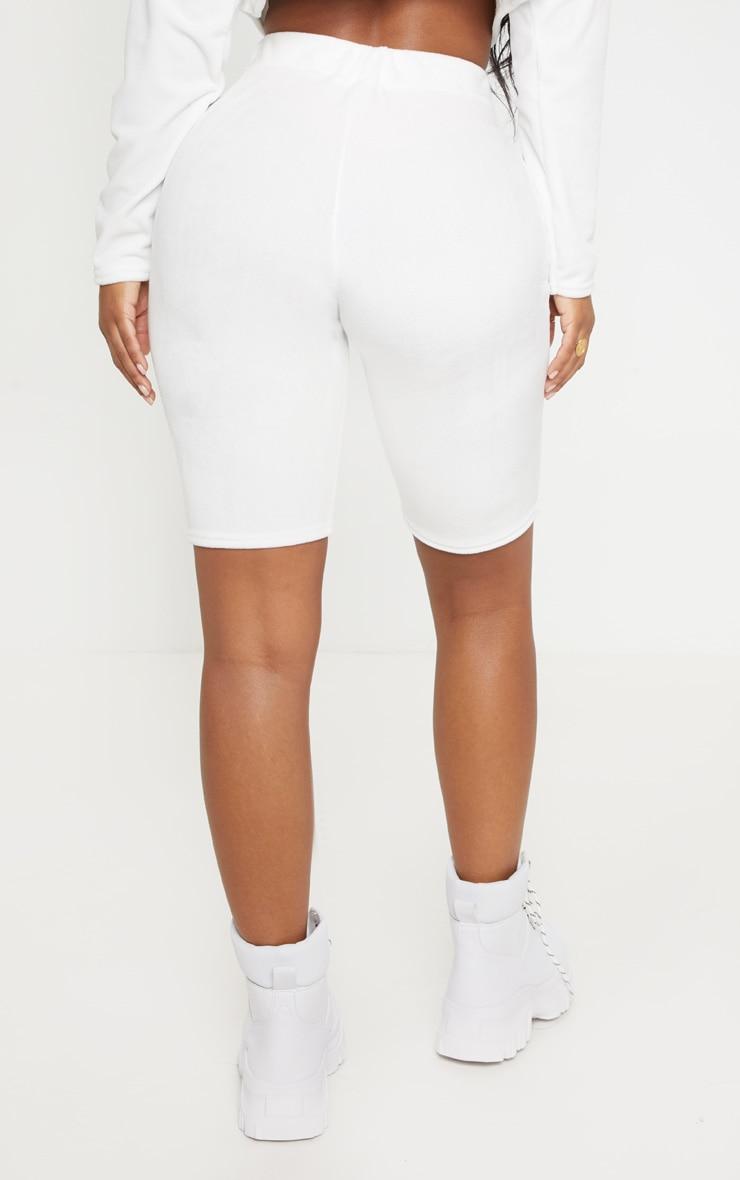 Shape - Short-legging en velours doux crème 4