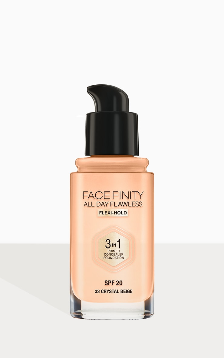 Max Factor Facefinity All Day Flawless Foundation Crystal Beige 3