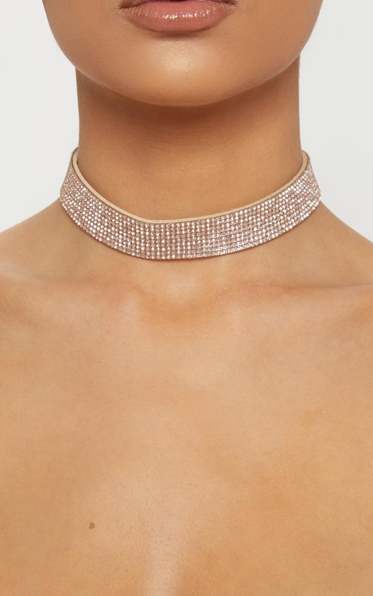 Gold Diamante Choker 2