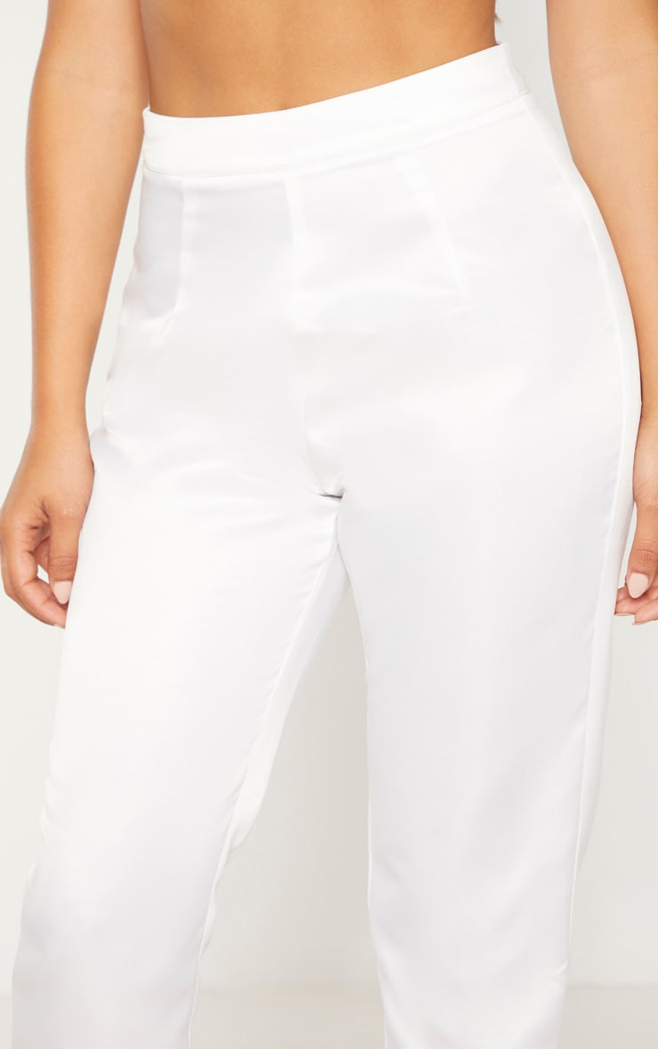 Petite Cream Skinny Suit Pants 5