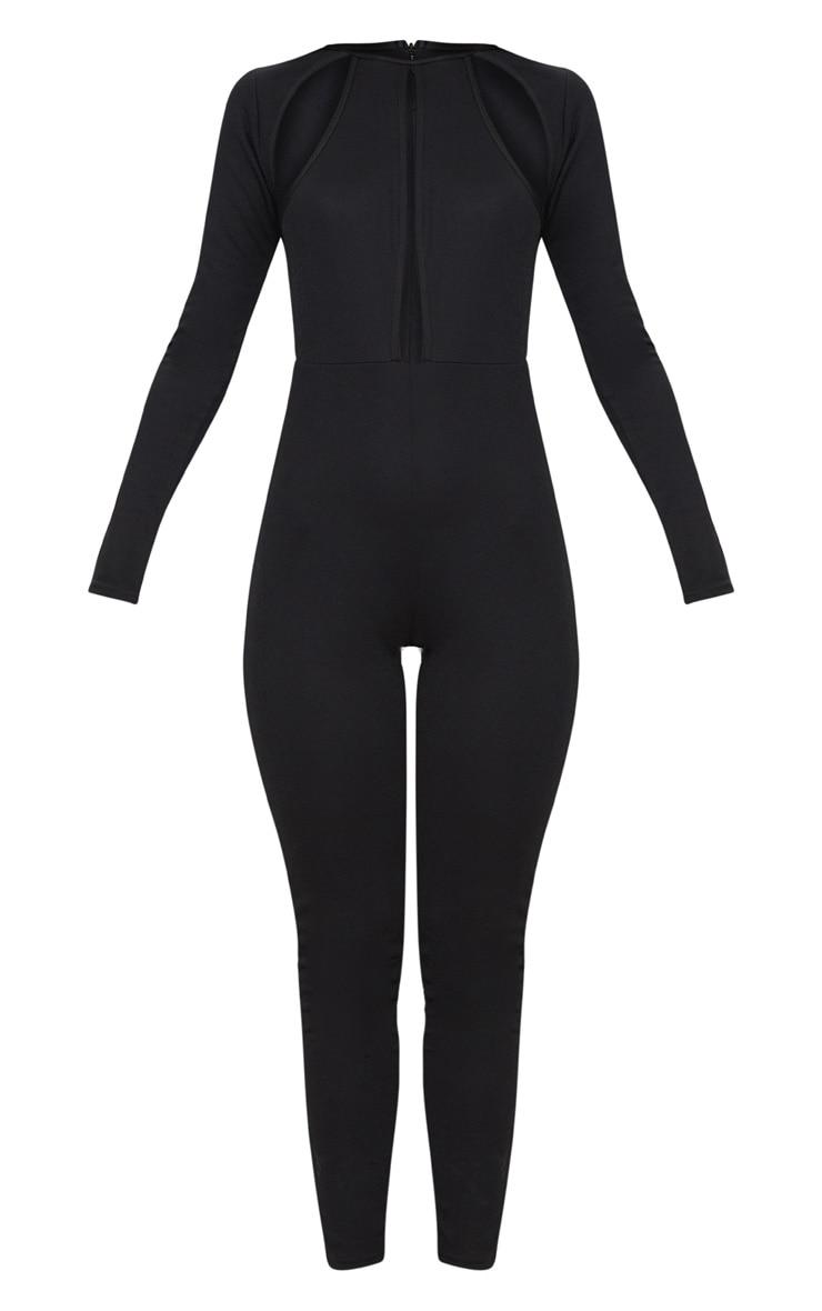Black Cut Out Top Jumpsuit 3