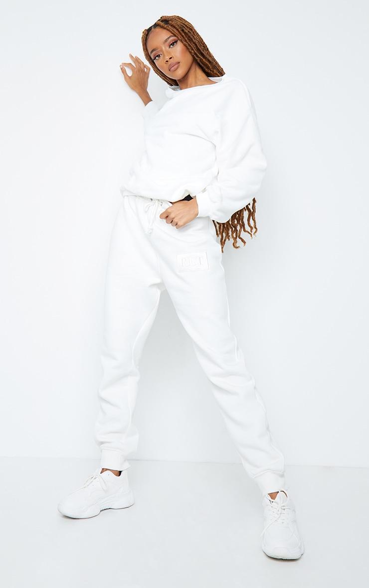 White Fleece Sweatshirt 3