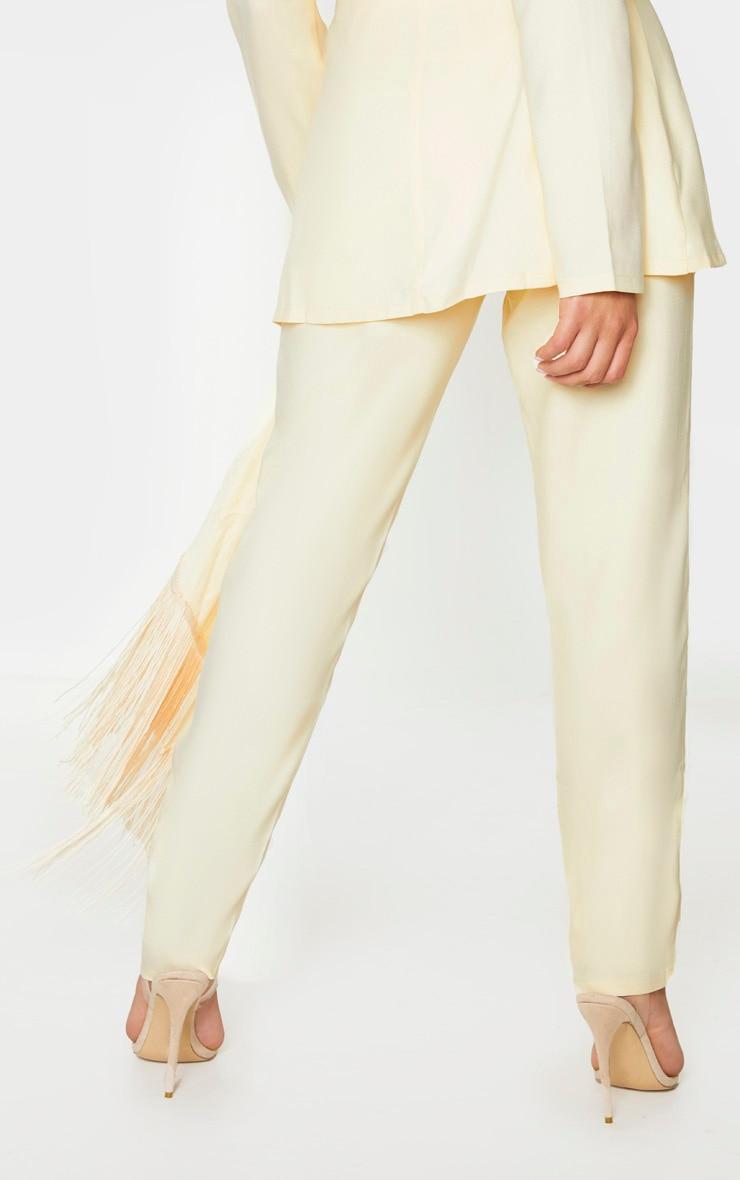 Lemon Woven High Waisted Cigarette Pants 3