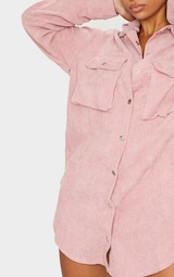 Blush Cord Pocket Detail Shirt Dress 3