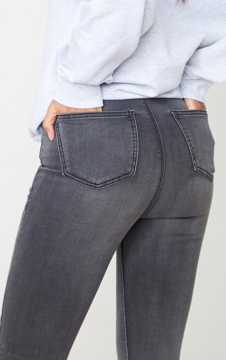 PRETTYLITTLETHING Grey Disco Skinny Jeans 5