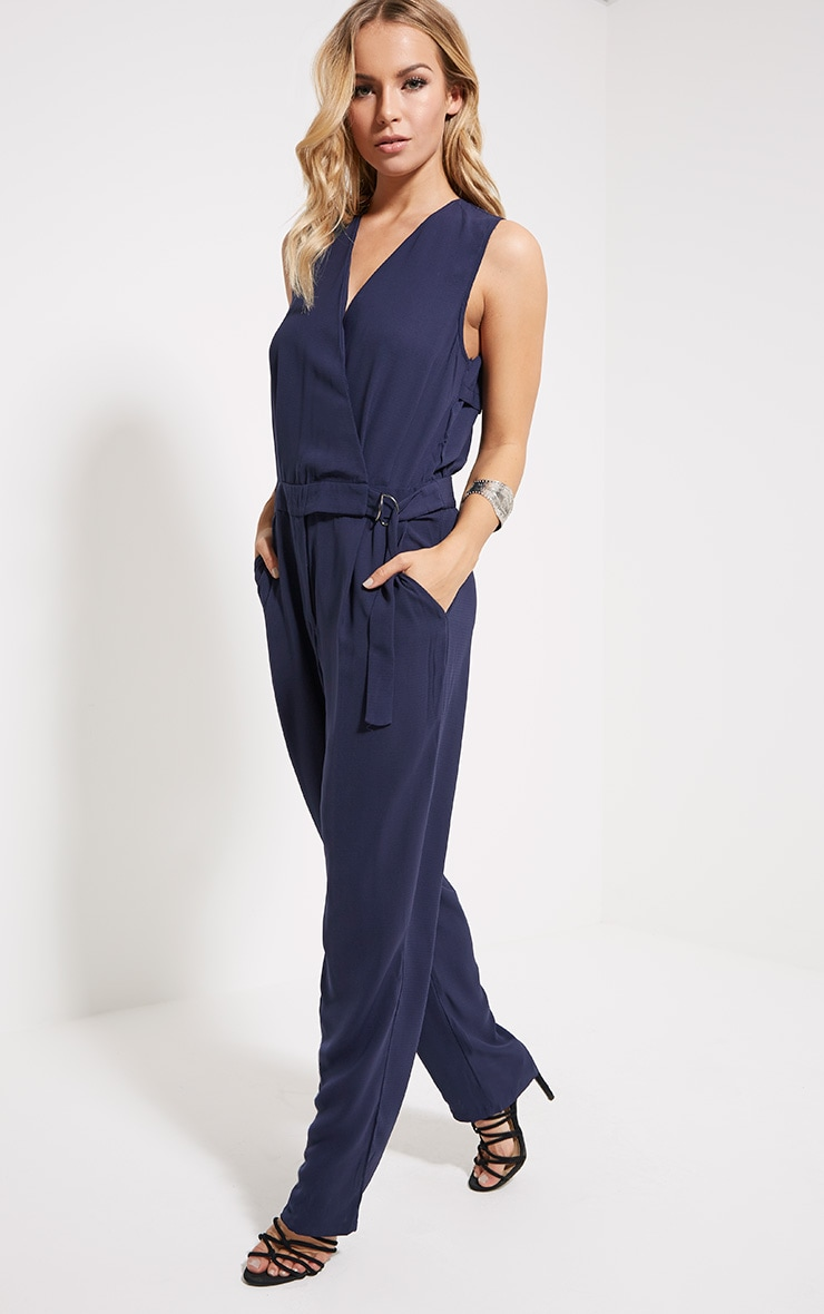 Yvonne Navy D-Ring Jumpsuit 1