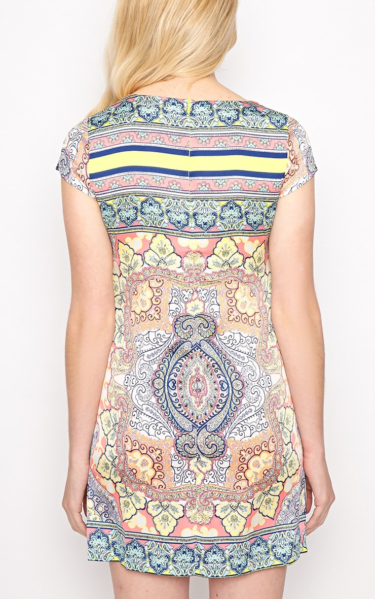 Brooklyn Pink Paisley Print Shift Dress 2
