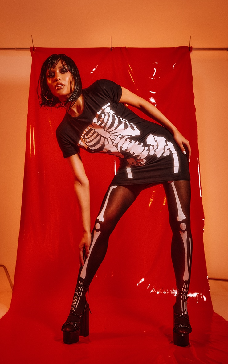 Tights Skeleton Print 1