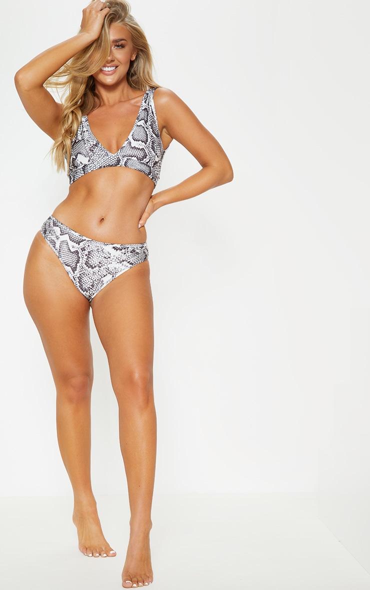 Snake Mix & Match V Front Brazilian Bikini Bottom 5