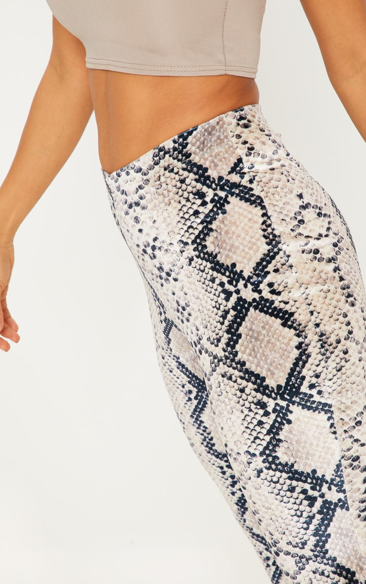 Snake Velvet Printed Flared Trouser 5