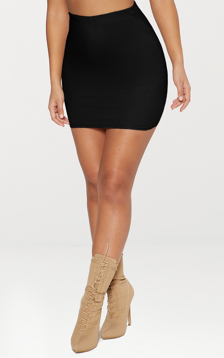 Black Ponte Mini Skirt 4