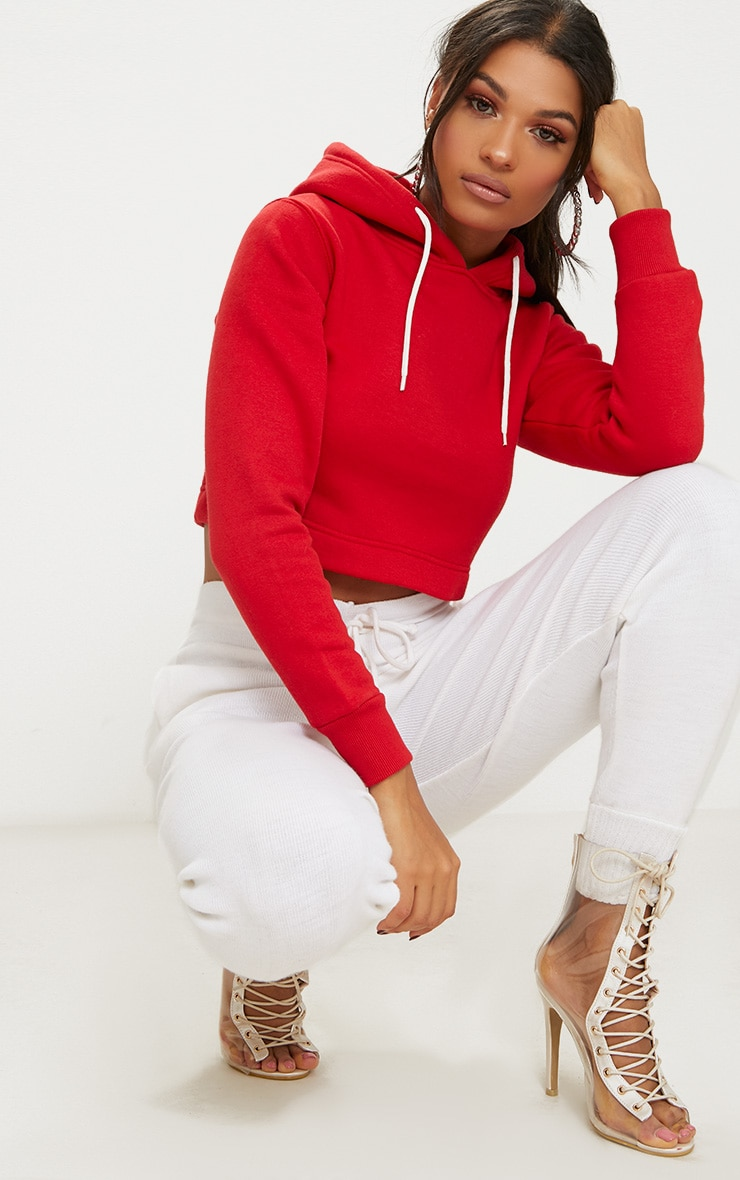Red Ultimate Fleece Hoodie 4