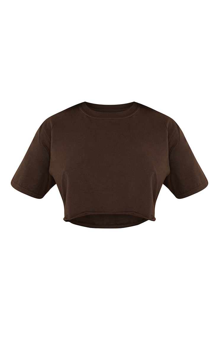 Chocolate Ultimate Crop T Shirt 5