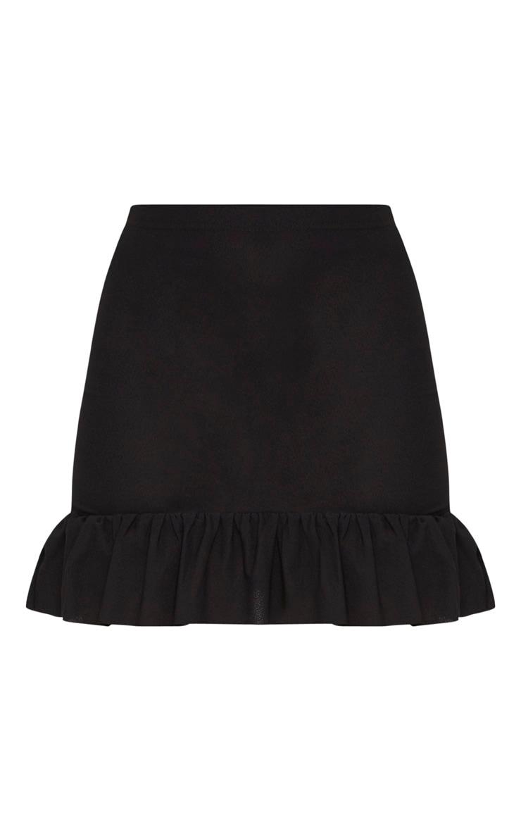 Black Frill Hem Mini Skirt  3