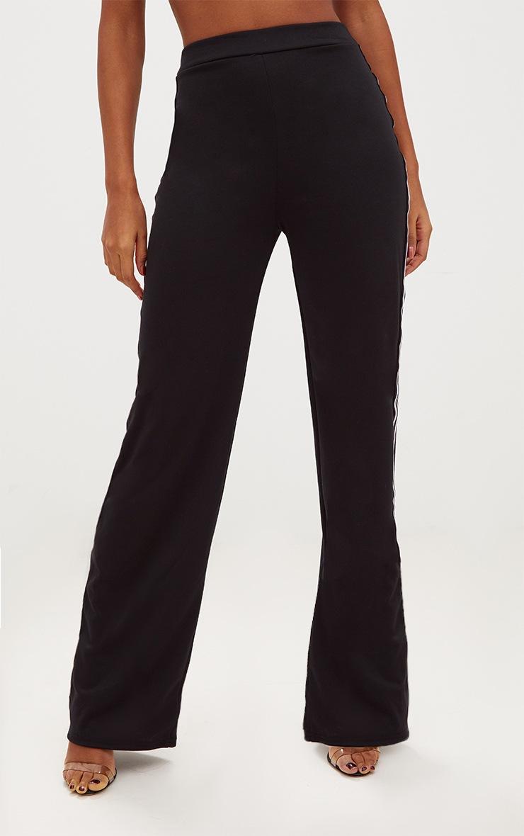 Black Stripe Wide Leg Track Trouser 2