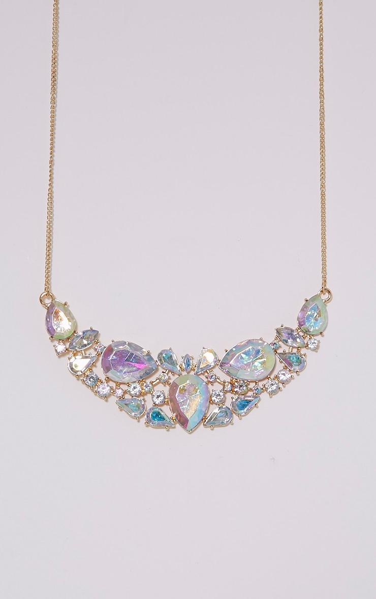 Erylia Gold Multi Stone Statement Necklace 4
