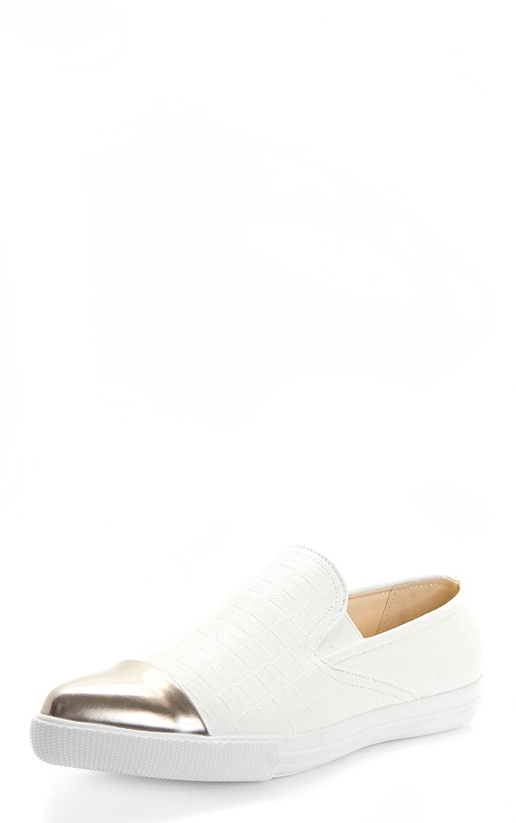 Cassidy White Pointed Toe Trainer 2