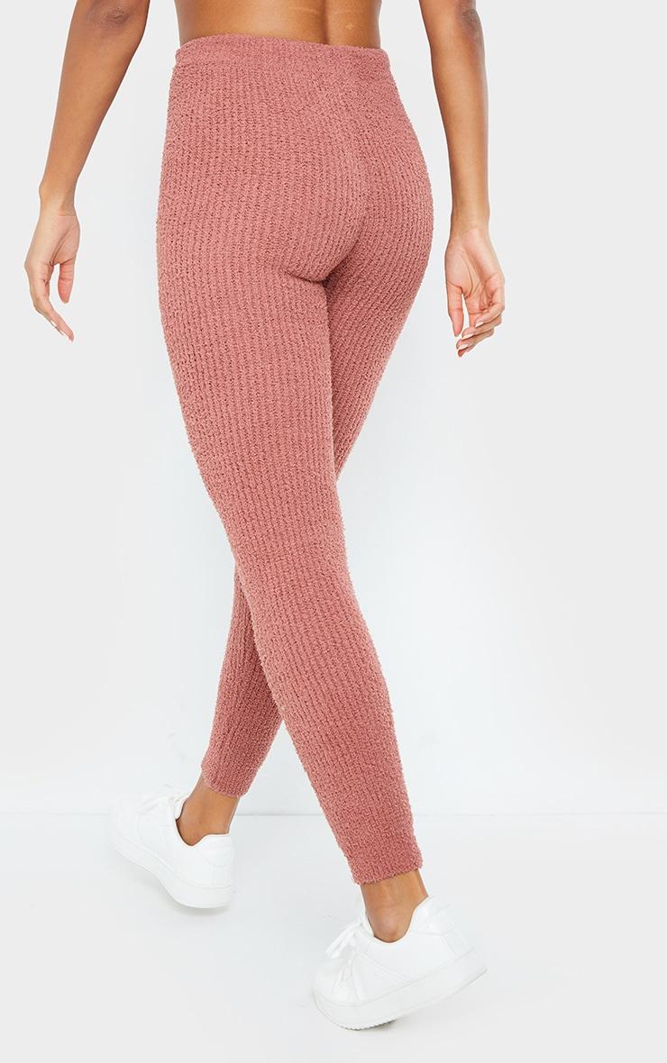Rose Chenille Ribbed Tie Waist Leggings 3