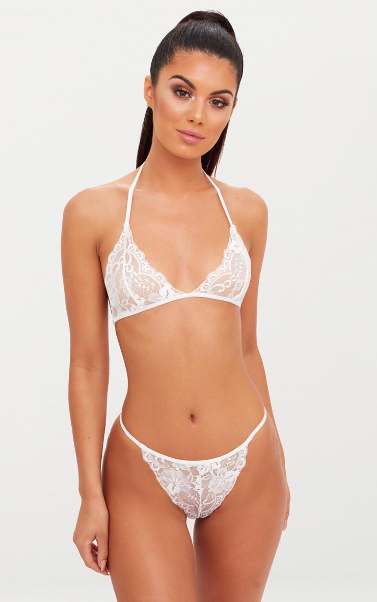 Ensemble de sous-vêtements en dentelle blanche 1