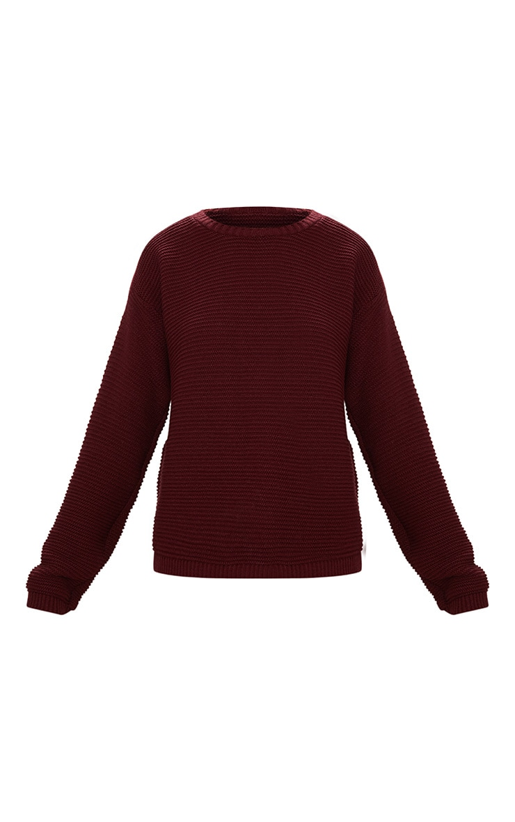Burgundy Rib Crop Jumper 3