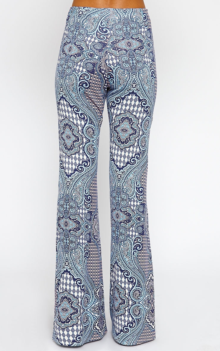 Reeve Print Flare Trousers 4